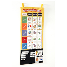 French School Timetable Vocabulary Wall Hanging  medium