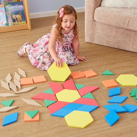 Buy Giant Foam Floor Pattern Blocks 49pcs Tts