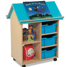 Bubblegum Book House Book and Tray Storage  medium