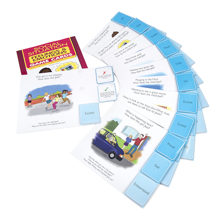 Learn About Emotions Social Situation Games 10pk  large
