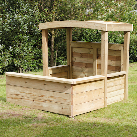 Outdoor Wooden Enclosed Role Play Centre  large