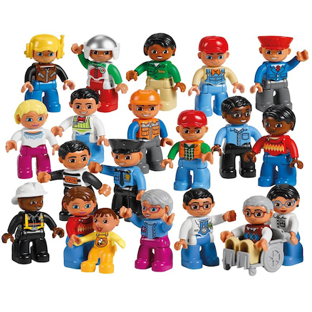 DUPLO LEGO Plastic Community People Set 21pcs  large