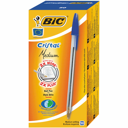 Bic Black and Blue Ballpoint Pens 200pk  large