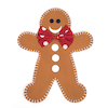 Greyboard Display Gingerbread Men 3pk  small