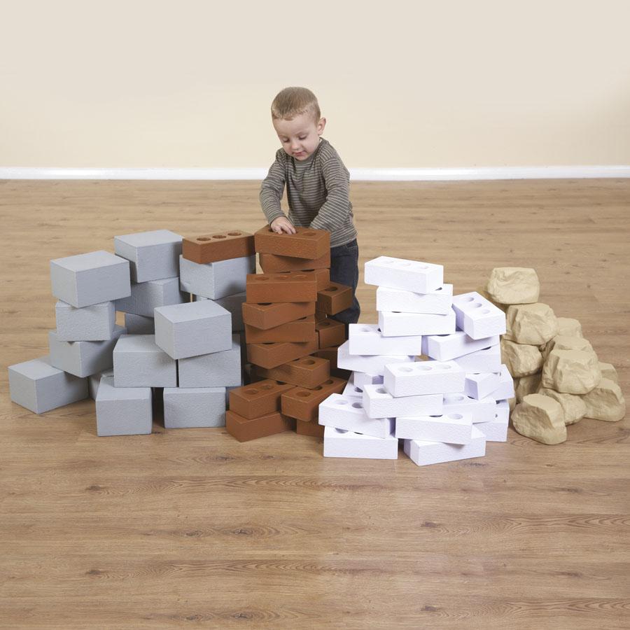 Buy role play foam house building bricks foam bricks tts for Foam blocks for building houses