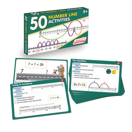 50 Number Lines Activities  large