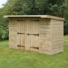 Large Lockable Wooden Outdoor Storage Shed  small