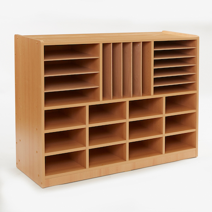 Open Storage Unit with Mixed Size Compartments  large