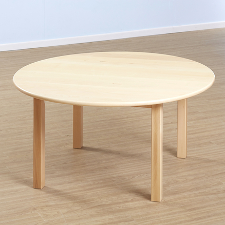 Superbe Solid Beech Circular Table And Chairs Set Large