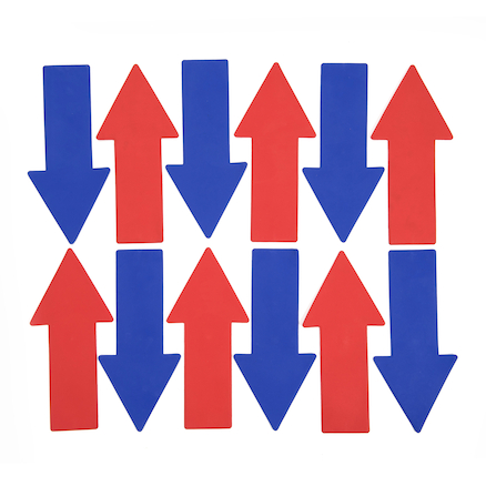 Rubber Floor Markers Arrows 12pk  large