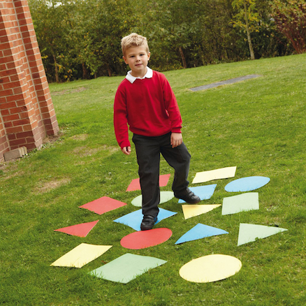 Outdoor Geometric Shapes Mats 16pcs  large