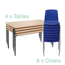 Crush Bent Table 4pk NP Chair  medium
