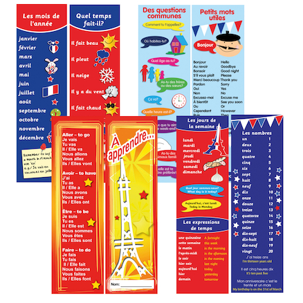 French Bookmarks 80pk  large