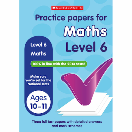 Maths Practice Exam Papers Level 6  large