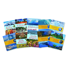 Oceans and Continents Books 10pk  medium