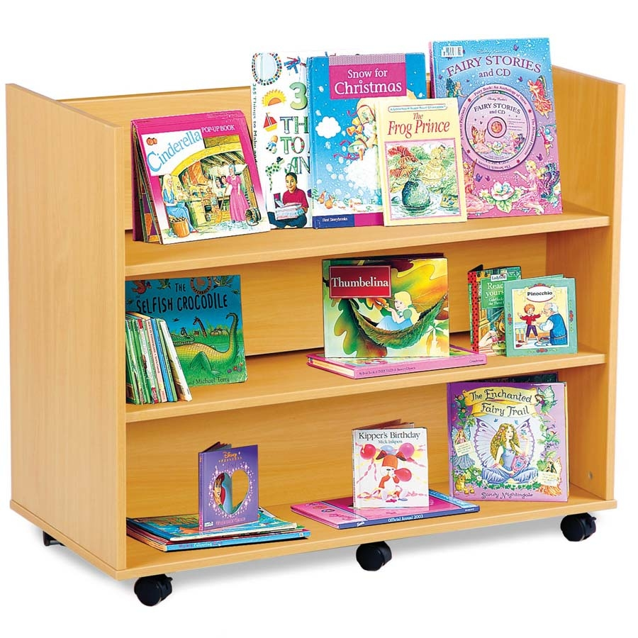 Buy Double Sided Book Display Unit With Shelves Tts