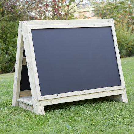 Toddlers Outdoor Chalkboard Wooden Floor Easel Large ...