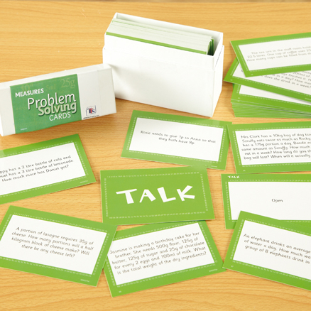 Measures 100 Problem Solving Cards  large