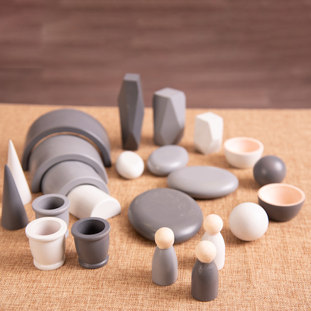 Shades of Grey Wooden Tonal Collection  large