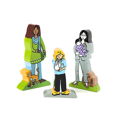 Families and Friends Wooden Characters 25pcs  large