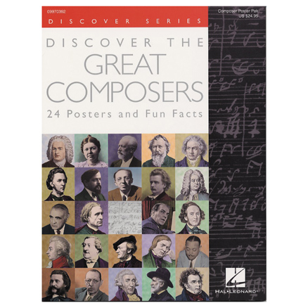 Great Composers Posters 24pk  large