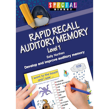 Rapid Recall Auditory Memory Book  medium
