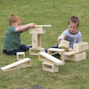 Giant Outdoor Wooden Hollow Blocks 15pk  small