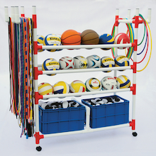 Plastic Sports Storage Trolley  medium