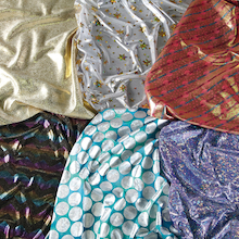 Metallic Print Fabric 6pk  medium