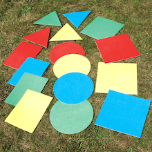 Outdoor Geometric Shapes Mats 16pcs  medium