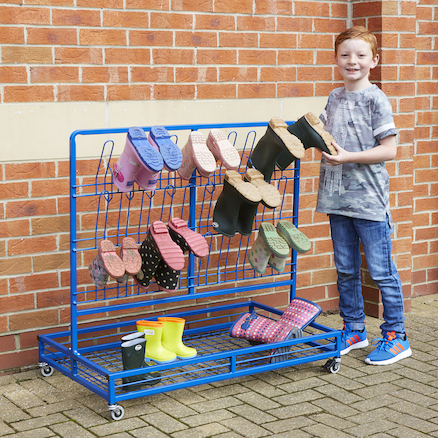 Double Sided Wellie Rack and Coat Rail  large