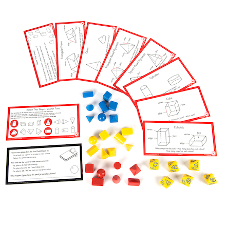 3D Shapes and Workcard Pack