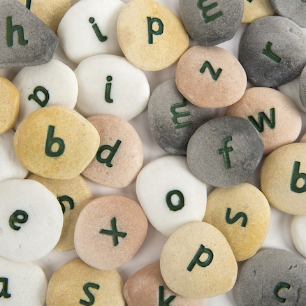 Resin Alphabet Pebbles Single Letters Set  large