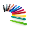 TTS Assorted Conical Fibre Tip Markers  small