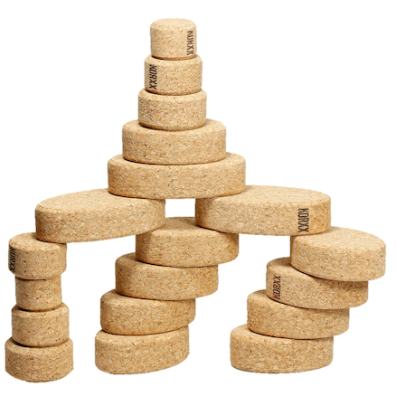 Cork Oval Building Blocks 35pk  large