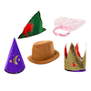 Story Time Hats 5pk  small