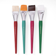 Jumbo Assorted Flat Brushes 4pk  medium