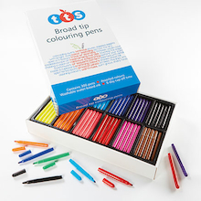TTS Fibre Tipped Assorted Colouring Pens 300pk  medium