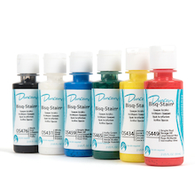 Bisque Stain Opaque Acrylics Assorted 6pk  medium