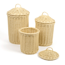 Woven Nesting Storage Baskets with Lids   medium