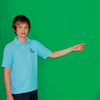 Green Screen with poles  small
