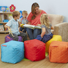 Quilted Cube Beanbags 6pk  small