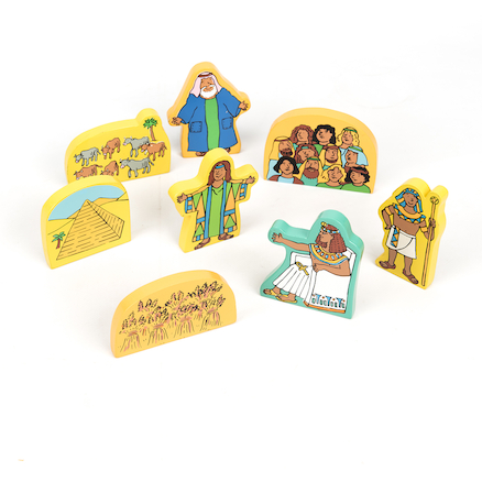 Joseph and His Coat of Many Colours Wooden Symbols  large