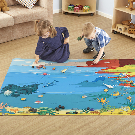 Small World Sealife Themed Play Mat  large