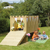 Outdoor Wooden Play Castle with Standard Delivery  small