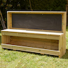 Wooden Chalkboard Workbench Unit  small