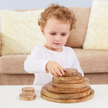 Natural Wooden Stacking Discs  medium
