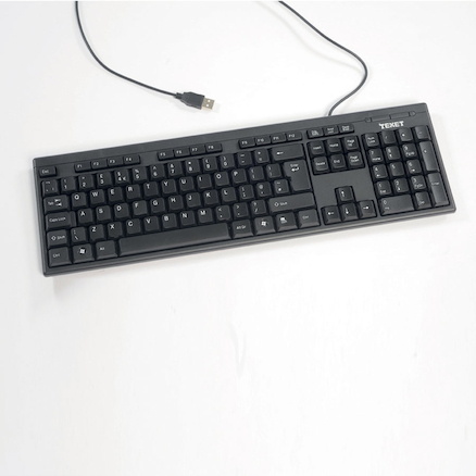 Basic Uppercase Computer Keyboard  large