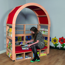 Arched Book Storage and Seating  medium