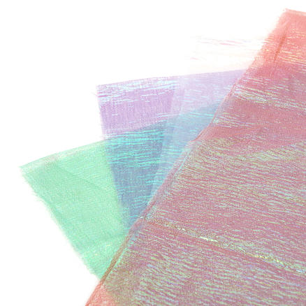 Pearlised Organza Fabric 4pk  large
